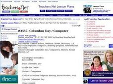 Columbus Day / Computer Lesson Plan
