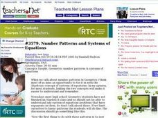 Number Patterns and Systems of Equations Lesson Plan
