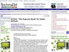 """The Popcorn Book"" by Tomie dePaola Lesson Plan"