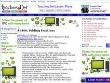 Folding Fractions Lesson Plan
