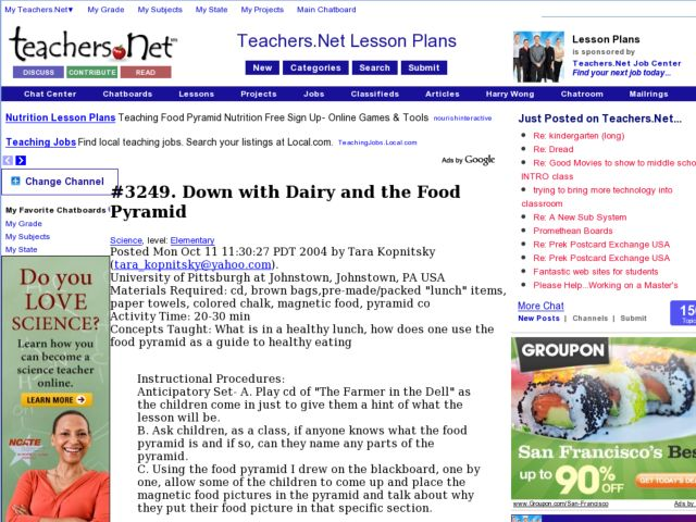 Down with Dairy and the Food Pyramid Lesson Plan