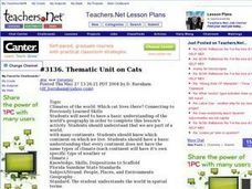 Thematic Unit on Cats Lesson Plan