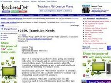 Transition Needs Lesson Plan