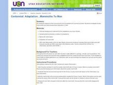 Centennial: Mammoths to man Lesson Plan