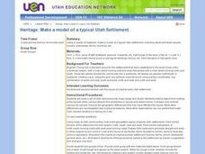 Heritage: Make a Model of a Typical Utah Settlement Lesson Plan