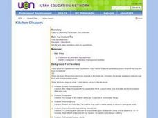 Kitchen Cleaners Lesson Plan