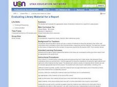 Evaluating Library Material for a Report Lesson Plan