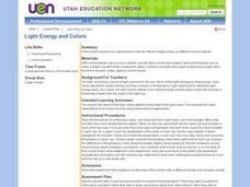 Light Energy and Colors Lesson Plan