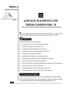 p-Block Elements and Their Compounds – II Handouts & Reference