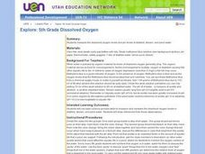 Explore: 5th Grade Dissolved Oxygen Lesson Plan