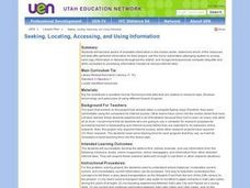 Seeking, Locating, Accessing, and Using Information Lesson Plan