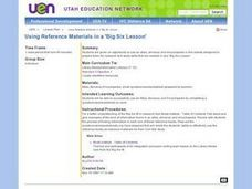 Using Reference Materials in a 'Big Six Lesson' Lesson Plan