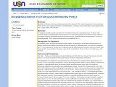 Biographical Sketch of a Famous Contemporary Person Lesson Plan