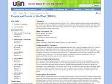 People and Events of the West (1800s) Lesson Plan