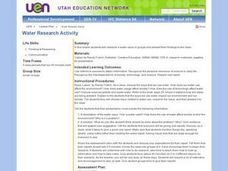 Water Research Activity Lesson Plan