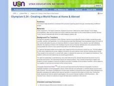 Creating a World Peace at Home & Abroad Lesson Plan