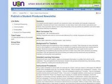 Publish a Student-Produced Newsletter Lesson Plan