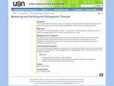 Measuring and Verifying the Pythagorean Theorum Lesson Plan