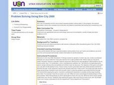 Problem Solving Using Sim City 2000 Lesson Plan