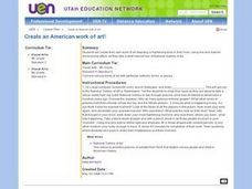 Create an American work of art! Lesson Plan