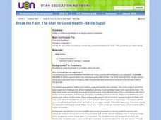 Break the Fast: The Start to Good Health Lesson Plan