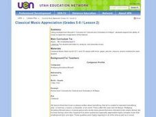 Classical Music Appreciation (Grades 5-6 / Lesson 2) Lesson Plan