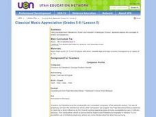 Classical Music Aprpreciation Lesson Plan