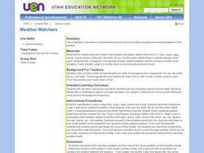 Weather Watchers - Seasonal Weather Patterns Lesson Plan