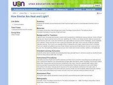 How Similar Are Heat and Light? Lesson Plan