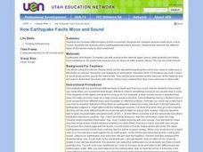 How Earthquake Faults Move and Sound Lesson Plan