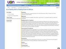 Is a Family Still a Family Even in Africa ? Lesson Plan