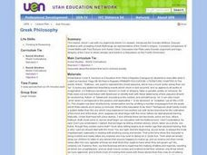 Greek Philosophy Lesson Plan