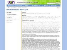 Introduction to the Water Cycle Lesson Plan