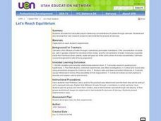 Let's Reach Equilibrium Lesson Plan