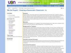 Creating a Democratic Classroom Lesson Plan