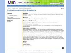 Creative Information About Scandinavia Lesson Plan