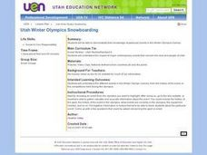 Utah Winter Olympics Snowboarding Lesson Plan