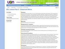 ESL Lesson Plan 2 -- Classroom Relics Lesson Plan