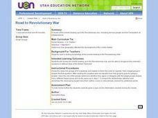 Road to Revolutionary War Lesson Plan
