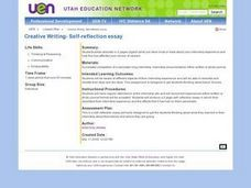 Creative Writing- Self-reflection Essay Lesson Plan