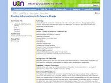 Finding Information in Reference Books Lesson Plan