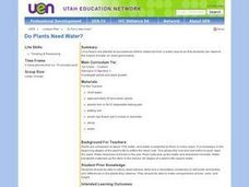 Do Plants Need Water? Lesson Plan