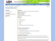 The Great Rock Sort Lesson Plan