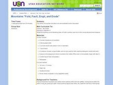 "Mountains ""Fold, Fault, Erupt, and Erode"" Lesson Plan"
