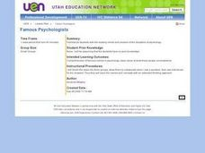 Famous Psychologists Lesson Plan