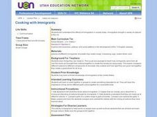 Cooking with Immigrants Lesson Plan