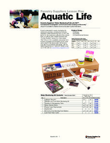 Aquatic Life Lesson Plan