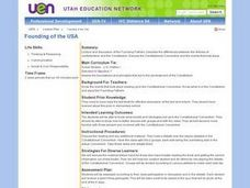 Founding of the USA Lesson Plan