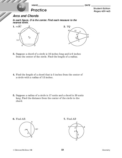 Arcs And Angles Answer Key - Free Photos