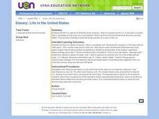 Slavery: Life in the United States Lesson Plan